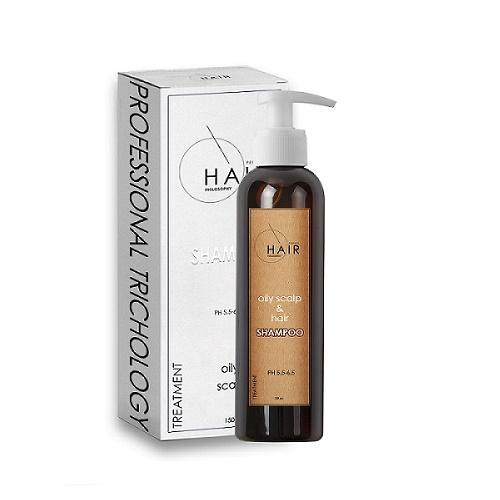 Шампунь для жирной кожи головы и волос Oily Scalp & Hair Shampoo, 150 мл. Professional Trichology
