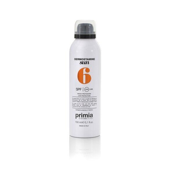 Солнцезащитный спрей-масло для тела и волос SPF 6, 150 мл. Primia Cosmetici