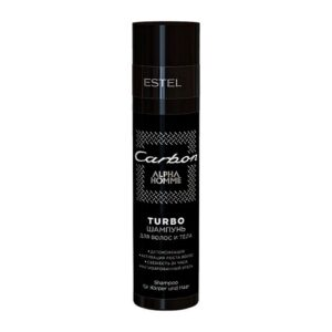 TURBO-шампунь для волос и тела ESTEL ALPHA HOMME CARBON, 250 мл.