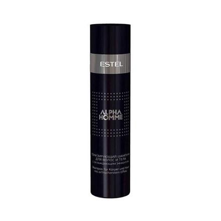Тонизирующий шампунь для волос и тела с охлаждающим эффектом ESTEL ALPHA HOMME, 250 мл.